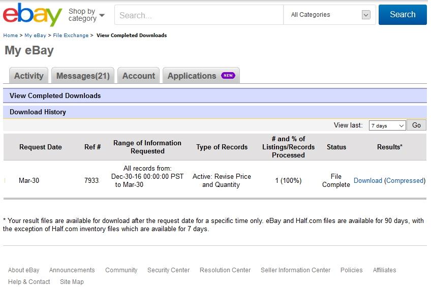 file exchangeレポートのダウンロード方法 recomendationレポートの例